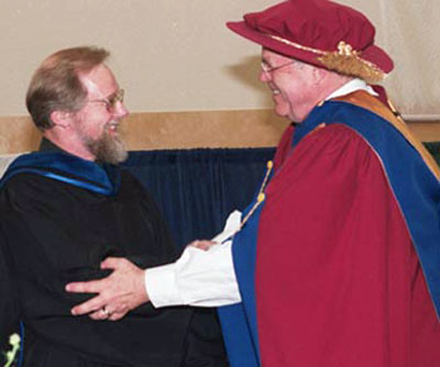 Andreas Schroeder Honourary degree